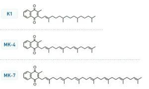 Vitamin K2-K1-K-Struktur